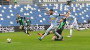 Il  gol dello 0-1 di Mirco Antenucci (Foto LaPresse)