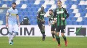 Il gol dell'1-1 di Babacar (Foto LaPresse)