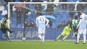 Il gol dell'1-1 di Babacar (Foto LaPresse) -
