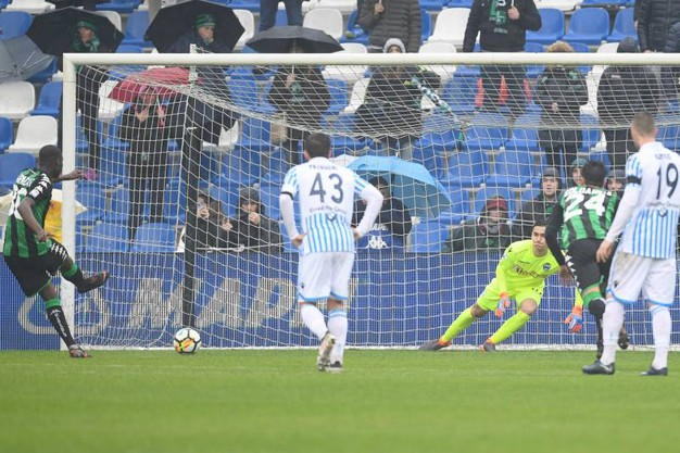 Sassuolo-Spal 1-1, Babacar rig. (Lapresse)
