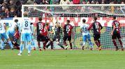 Cagliari-Lazio 1-1, autogol di Ceppitelli (Ansa)