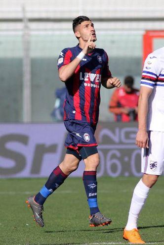 Crotone-Sampdoria 1-0, Trotta (Ansa)