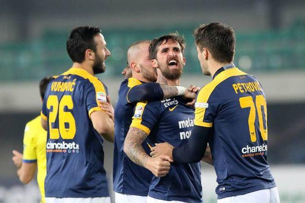 Verona-Chievo 1-0, Caracciolo (Lapresse)