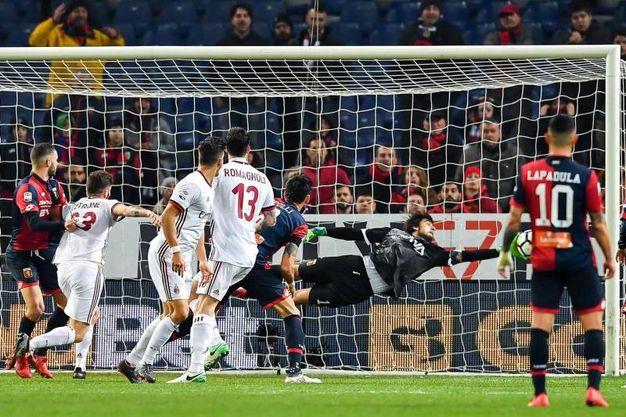Genoa-Milan 0-1, André Silva (Ansa)