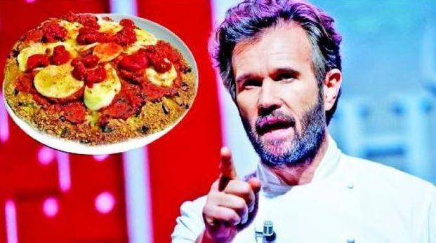 Carlo Cracco e la sua versione della pizza Margherita