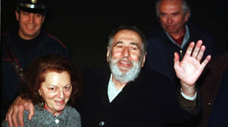 Giuseppe Soffiantini, appena liberato, con la moglie Maria