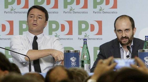 Matteo Renzi e Matteo Orfini (Ansa)