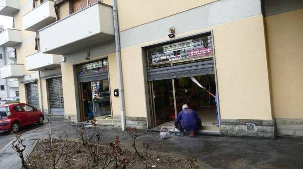 Il negozio di biciclette dove è avvenuto il furto (Attalmi)