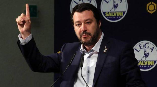 Il leader leghista Matteo Salvini (Ansa)