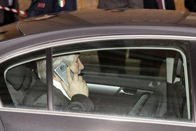 In macchina anche Giuliano Poletti (Ansa)