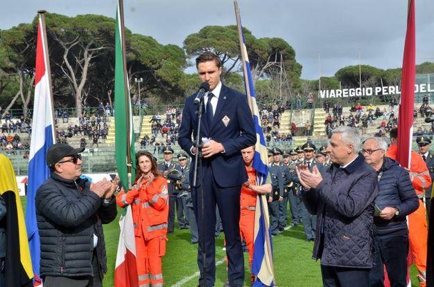 Viareggio Cup, il giuramento di Federico Chiesa (foto Umicini)
