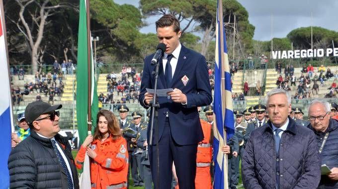 Enrico Chiesa durante il giuramento (Foto Umicini)