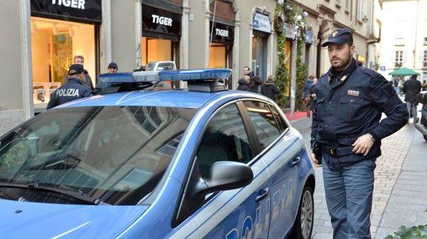 Intervento delle volanti del commissariato di Montecatini