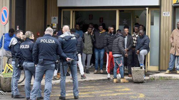 La protesta dei profughi a Varese