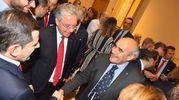 Tra i presenti anche il condirettore de il Resto del Carlino, Beppe Boni, in foto con i vertici di Unicredit, alla sua destra Andrea Casini (foto Artioli)