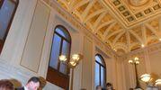 La splendida scalinata di Palazzo Pratonieri (foto Artioli)