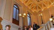 I meravigliosi soffitti del palazzo ristrutturato da Unicredit (foto Artioli)