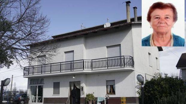 La casa della rapina e la vittima Maria Biancucci