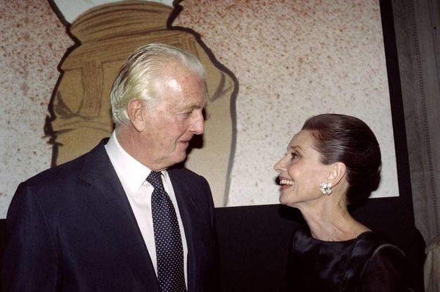 Con Audrey Hepburn (LaPresse)