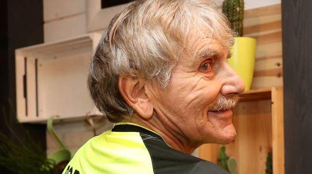 Lamberto Boranga con la nuova maglia da portiere