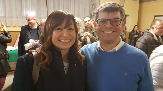 Il senatore Luca Briziarelli con Donatella Tesei anche  lei eletta in Parlamento con la Lega