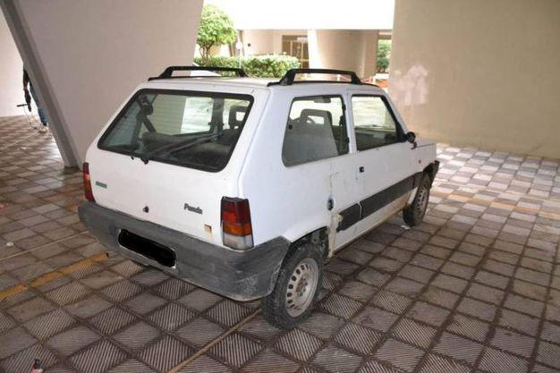 L'auto utilizzata per i furti (Foto Zeppilli)