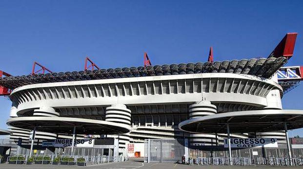 Lo Stadio Giuseppe Meazza a Milano (Ansa)
