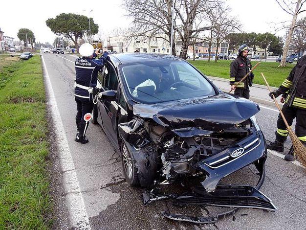 L'incidente è avvenuto lungo al San Vitale alle porte di Lugo (Scardovi)
