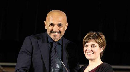 Spalletti con il sindaco Barnini (Tommaso Gasperini / Fotocronache Germogli)