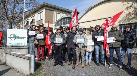 Presidio dei lavoratori Albor a Gambassi Terme (foto Tommaso Gasperini/Germogli)