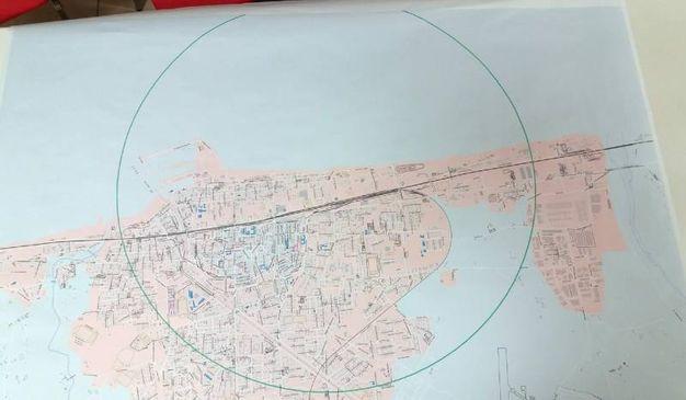 La mappa della zona rossa (Ansa)