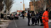 Le operazioni per sfollare i residenti nella zona 'rossa (Ansa)