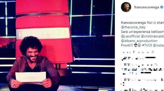 Francesco Renga coach di The Voice (Instagram)