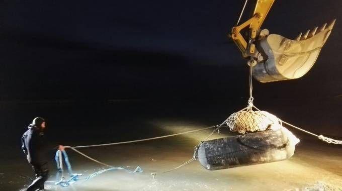 La bomba di Fano (foto Marina Militare)