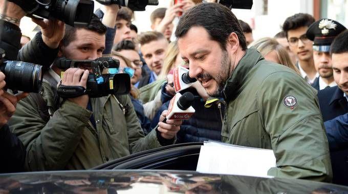 Matteo Salvini all'incontro con la stampa estera (LaPresse)