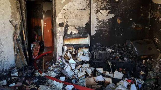 L'appartamento del terzo piano è andato distrutto