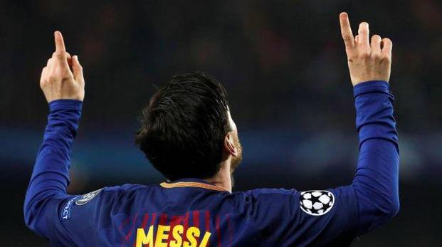 Barcellona-Chelsea 3-0, doppietta di Messi (Ansa)