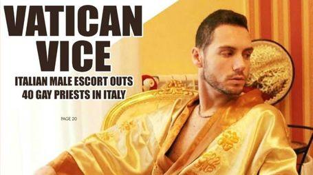 La copertina della rivista statunitense «Sfgn» dedicata allo scandalo dei preti gay denunciato da Francesco Mangiacapra