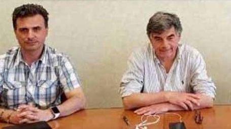 A sinistra Valter Ciancaglia con il segretario generale Fulvio Dal Zio