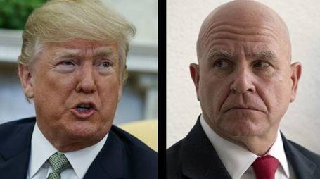 Donald Trump e H.R. McMaster (Ansa)