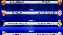 Champions League, gli abbinamenti dei quarti (Ansa)