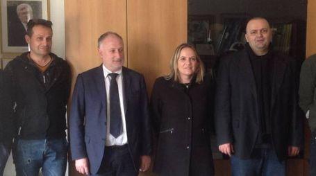 Davide Cremonini, Filippo Bellesi, Gianni Lorenzetti e i tecnici che ieri erano ad Irola