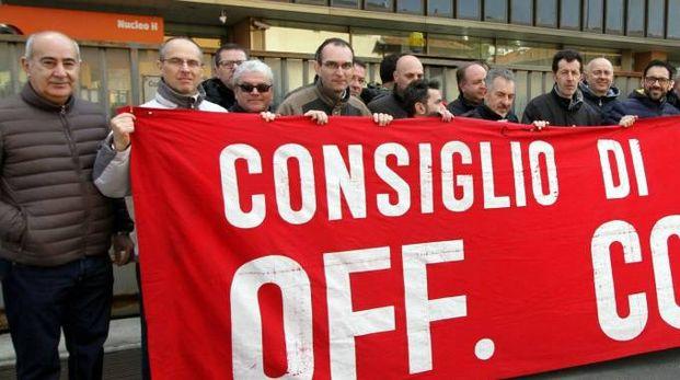 La protesta dei dipendenti