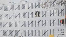 Nuovo murale di Banksy (ANSA)