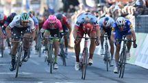 Milano-Sanremo al via. Nella foto, Kittel, Sagan e Richeze alla Tirreno (LaPresse)
