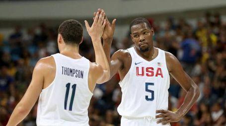 Kevin Durant e Klay Thompson