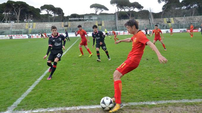 La gara tra Cina Under 19 e Perugia giocata a porte chiuse (Umicini)