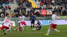 Pisa-Piacenza 0-0, un'azione della partita (Valtriani)