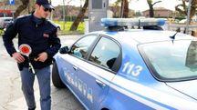 Una pattuglia della polizia di Stato