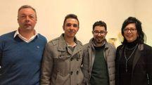 I tre soci del circolo Pd  con il segretario provinciale Luigi Vitellio